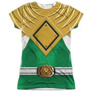 Power Rangers - Green Ranger - Juniors Cap Sleeve Shirt - Large