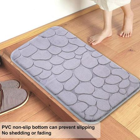 Qiilu Bath Mat Simple Style Kitchen Rug Bathroom Pad Water Absorbent Doormat Non Slip Floor Mat Non Slip Mat Walmart Canada