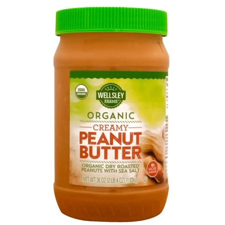 Product of Wellsley Farms Organic Creamy Peanut Butter, 36 oz. Farms Peanut Butter