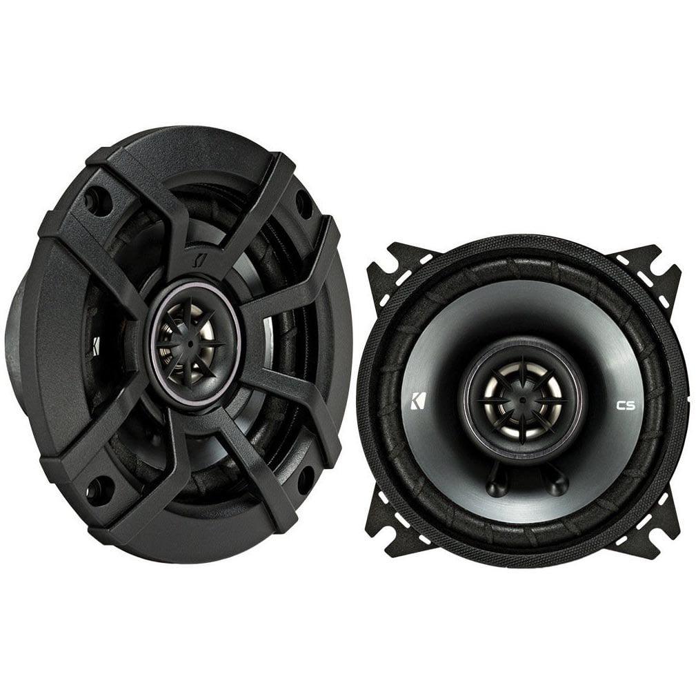 Kicker CS Series 4 Inch Coaxial EVC 2 Way 300 Watt Car Speakers 43CSC44 (Pair)