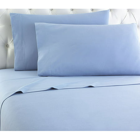Empire Home Heavy Winter Flannel 100 Cotton Sheet Set Ed Flat Pillow Cases Deep Pocket Light Blue Twin Size