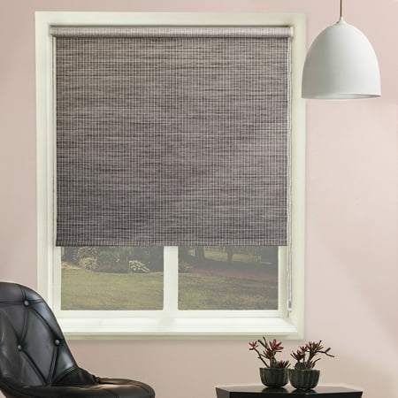 Chicology Continuous Loop Beaded Chain Roller Shade, Lattice - Natural Woven, Privacy - Lattice Marble, 23