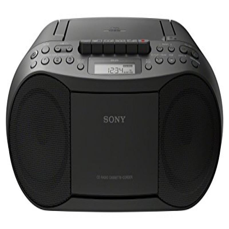 Sony CFDS70-BLK CD MP3 Cassette Boombox Home Audio Radio, Black by Son