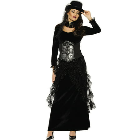Dark Mistress Womens Gothic Victorian Witch Halloween Costume](Gothic Victorian Halloween Decorations)