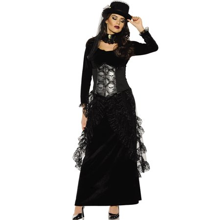 Dark Mistress Womens Gothic Victorian Witch Halloween Costume (Womens Gothic Halloween Costumes)