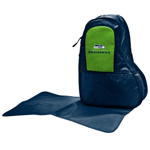 NFL Diaper Bag by Lil Fan, Sling Style - Seattle Seahawks