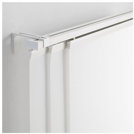 Ikea Triple Curtain Rail White 55 10210292951212
