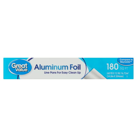 Great Value 180 sq ft Aluminum Foil (Make A Bowl Out Of Aluminum Foil)