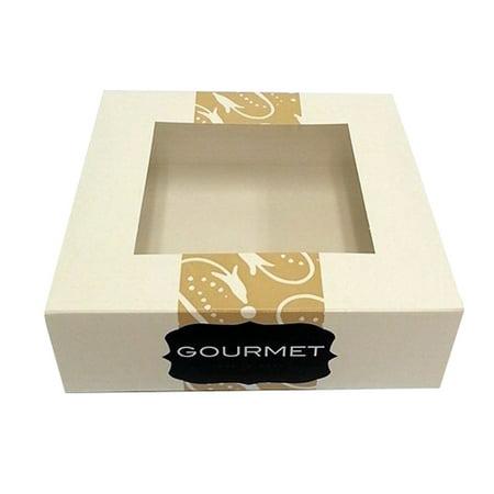 Boxit Corporation Auto Window 1-Piece Gourmet Pie Box White, 8