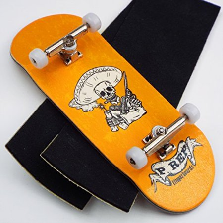 Peoples Republic P-Rep Bandito 34mm Complete Wooden Fingerboard w CNC Lathed Bearing Wheels (Fingerboard Wheels)