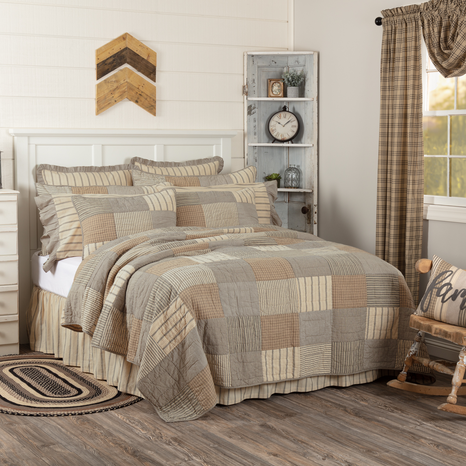 Charcoal Grey Farmhouse Bedding Miller Farm Charcoal