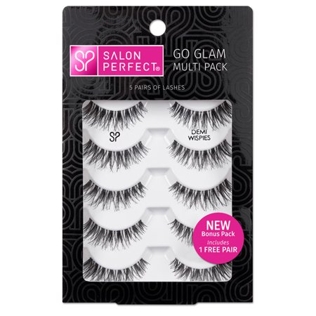Salon Perfect Go Glam Multi Pack Lashes, Demi Wispie, 5 - Thickens Lashes
