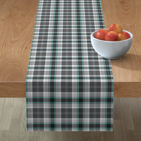 Table Runner Tartan Plaid Buffalo Check Modern Geometric Classic Cotton Sateen