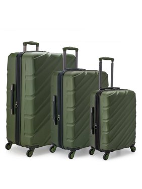 d7ca22f60 Product Image U.S. Traveler US09108E Gilmore 3 Piece Expandable Hardside  4-Wheel Spinner Luggage Set with Push