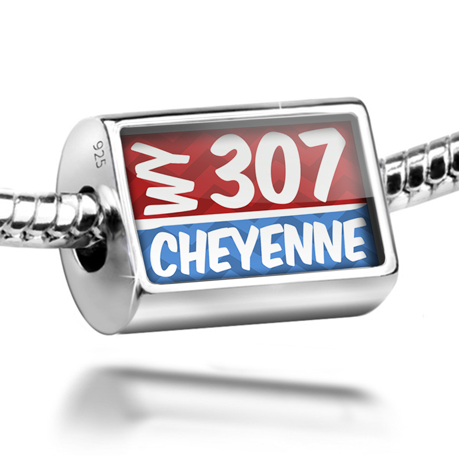 Neonblond Bead 307 Cheyenne, WY red/blue Charm Fits All E...