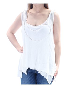 64ab4314b2577 Product Image WE THE FREE Womens White Sleeveless Jewel Neck Top Size  S