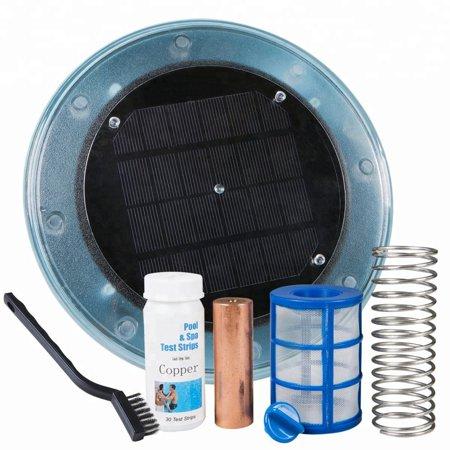 iMeshbean Solar powered Pool Ionizer Kills Algae Using Less Chlorine above or in ground