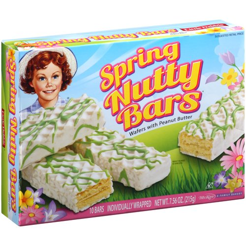 Little Debbie Spring Nutty Bars, 10ct, 7.56oz