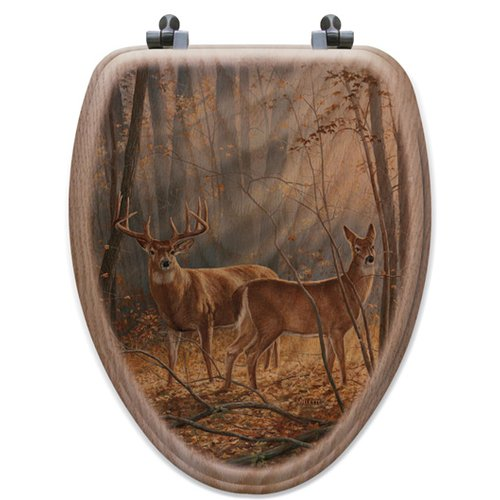 WGI-GALLERY Woodland Splendor Oak Elongated Toilet Seat