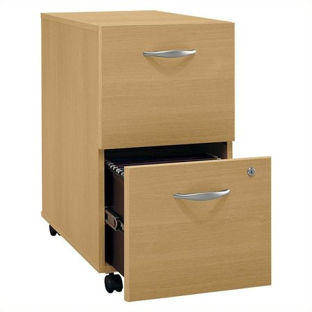 Bush Business Series C 2Dwr Mobile Pedestal in Light - Light Oak File Cabinet