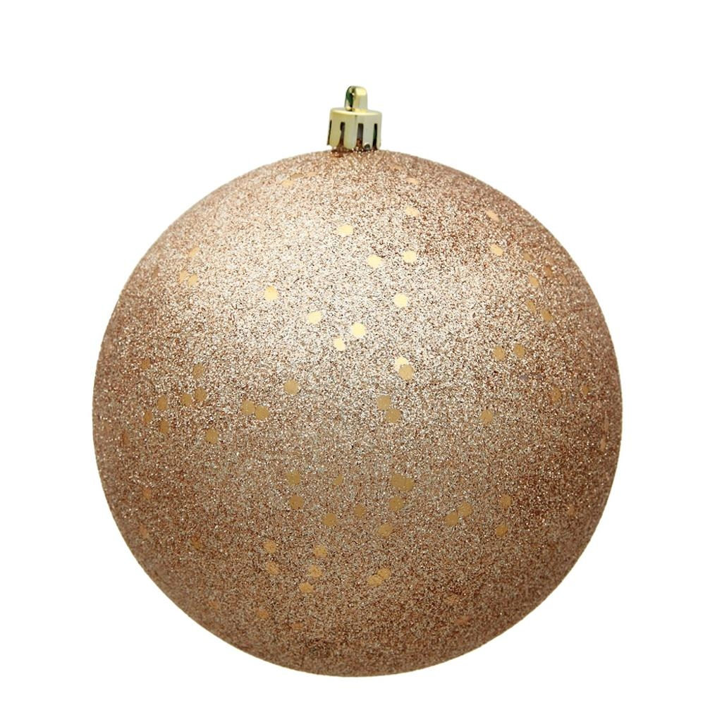"Vickerman 487952 - 10"" Cafe Latte Sequin Ball Christmas Christmas Tree Ornament (N592580DQ)"