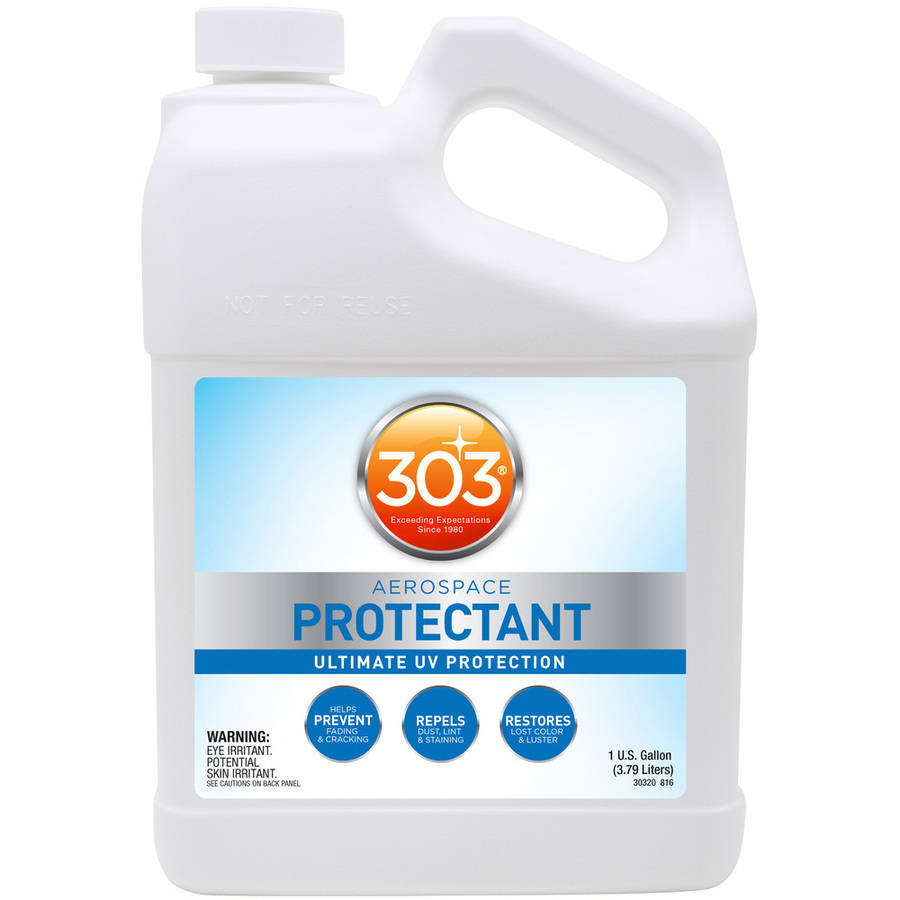303 (30320) Aerospace UV Protectant for Plastic, Vinyl, Rubber, and more, 128 fl oz