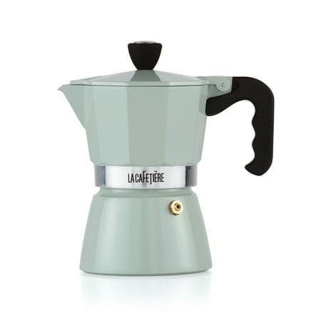La Cafetiere Classic Pistachio Green 3 Cup Espresso Non Electric Coffee Maker - Walmart.com