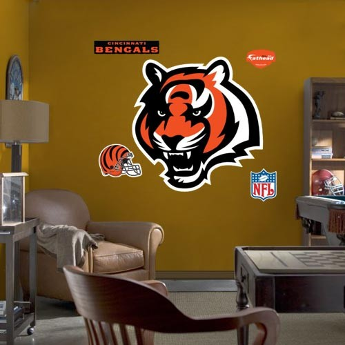 Cincinnati Bengals Team Logo Fathead Wall Sticker - No Size
