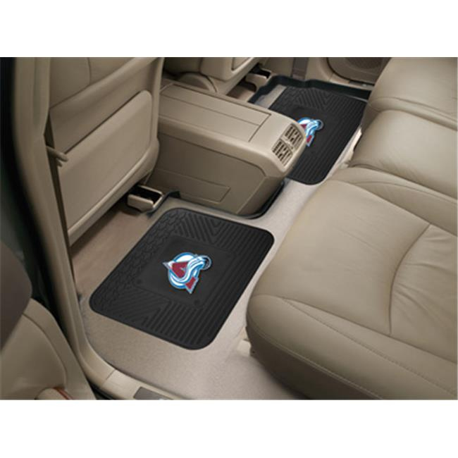FANMATS 12418 NHL - Colorado Avalanche Backseat Utility Mats 2 Pack