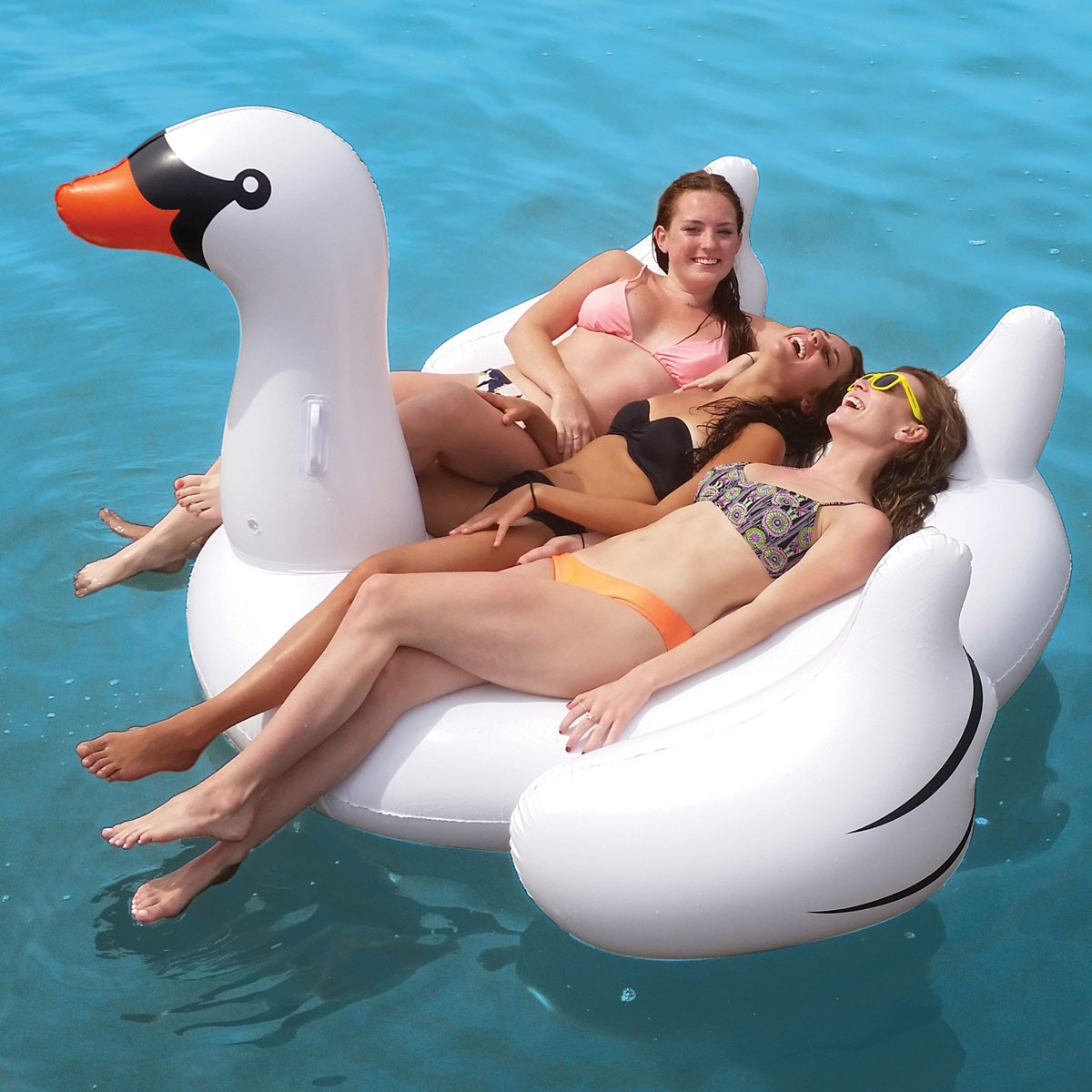 Swimline Giant Swan 75-in Inflatable Ride-On Pool Toy by Swimline
