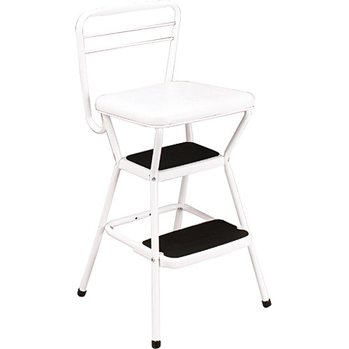 Cosco White Retro Counter Chair Step Stool with Lift-up Seat  sc 1 st  Walmart & Cosco White Retro Counter Chair Step Stool with Lift-up Seat ... islam-shia.org