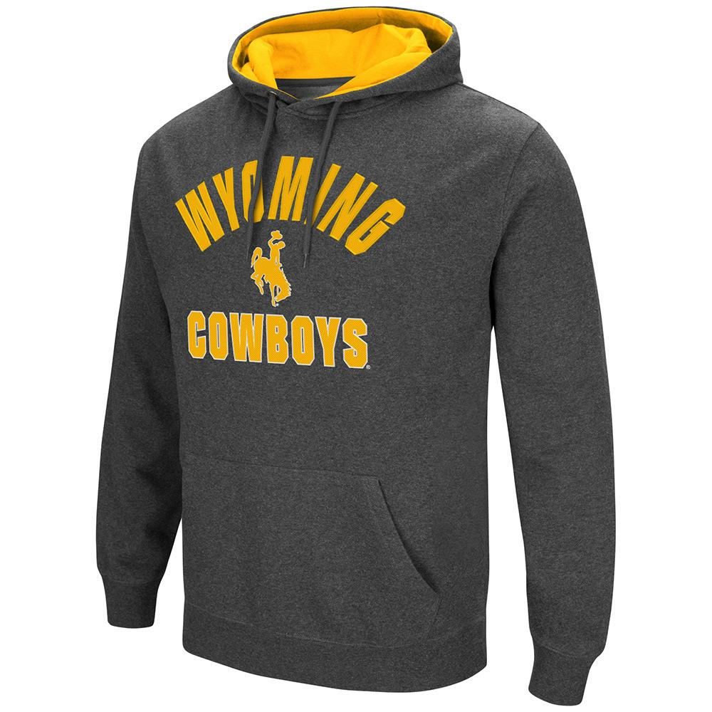 Mens NCAA Wyoming Cowboys Pull-over Hoodie by Colosseum