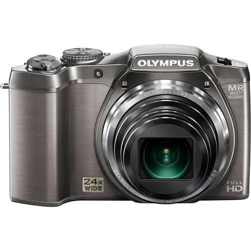 "Olympus SZ-31MR Silver 16MP 24x Ultra Zoom Digital Camera w/ 3"" LCD Display, 3D Images"