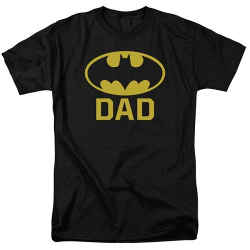 Batman Bat Dad Mens Short Sleeve Shirt Black 2X