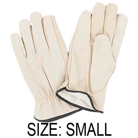 - Men's Top Grain Fleece Lined Cowhide Gloves - Small Size : ( Pack of 2 Pairs ) (Maxi Star: GL-25102-Z02)