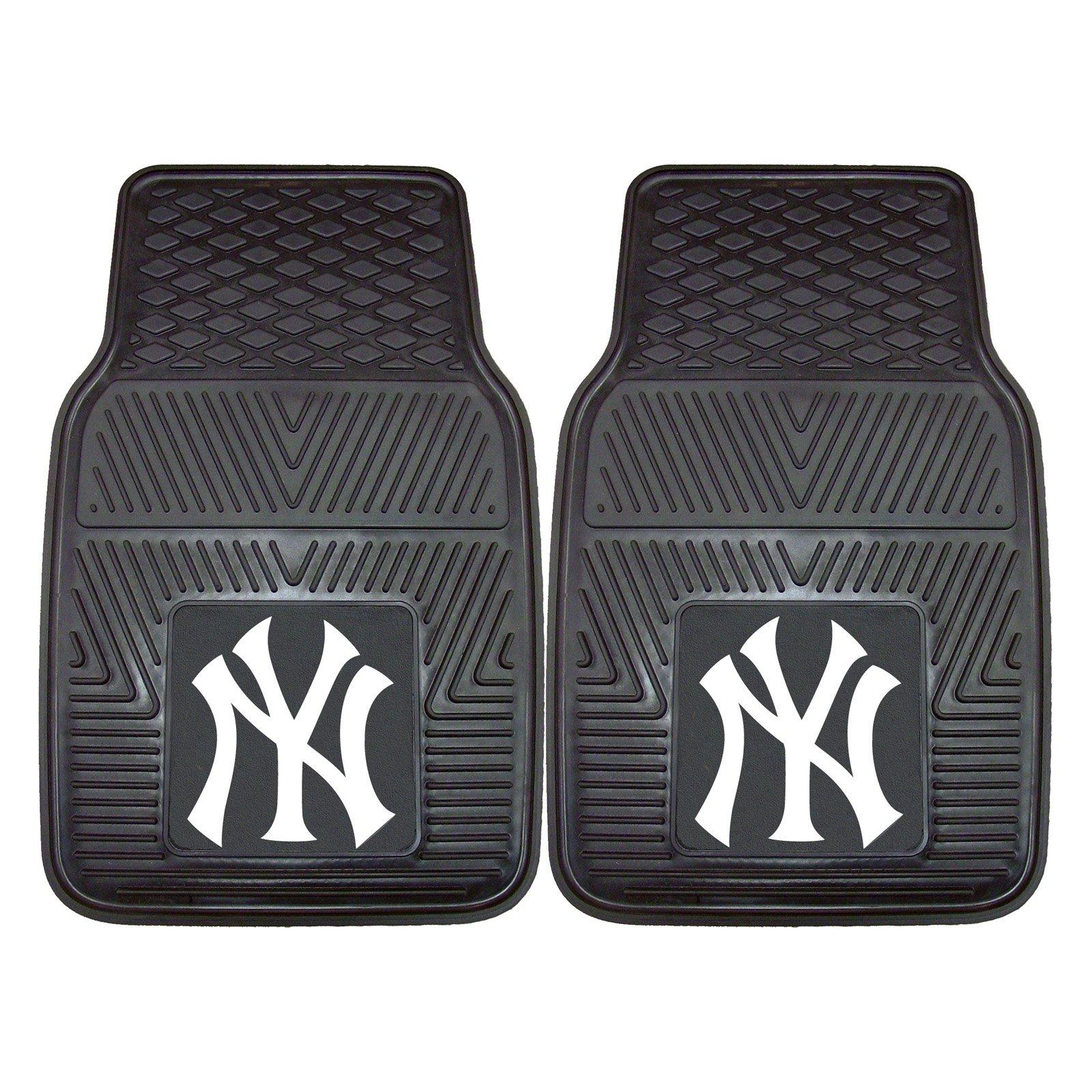 "New York Yankees 2-pc Vinyl Car Mats 17""x27"""