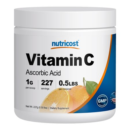 - nutricost pure ascorbic acid powder (vitamin c) .5 lbs
