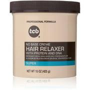 TCB No Base Hair Relaxer Creme, Super 15 oz