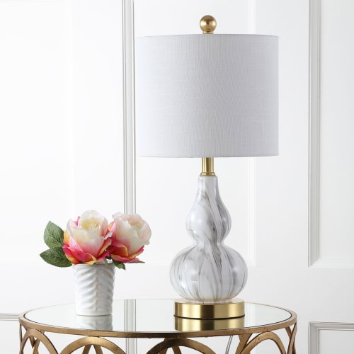 "Anya 20.5"" Mini Glass LED Table Lamp, Multiple Colors by JONATHAN Y"