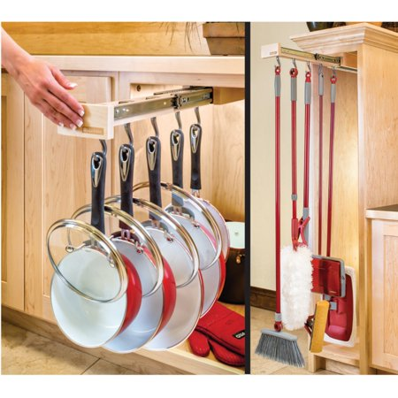 Glideware Pan 7 Hook Utility Organizer with Ball Bearing Slides