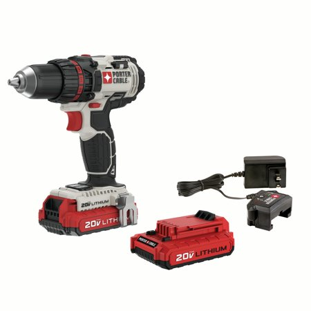 PORTER CABLE PCCK600LB 20V MAX Lithium-Ion 1/2-Inch Cordless Drill with 2 - 1.5Ah
