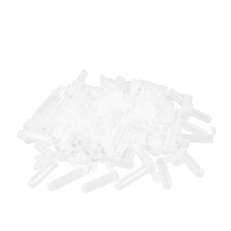 Unique Bargains Unique Bargains Clear White Plastic 7ml Capacity Centrifuge Tubes + Attached Caps 200pcs