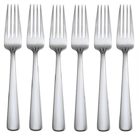 Oneida Aptitude Set of 6 Stainless Steel Salad (Fiesta Salad Fork)