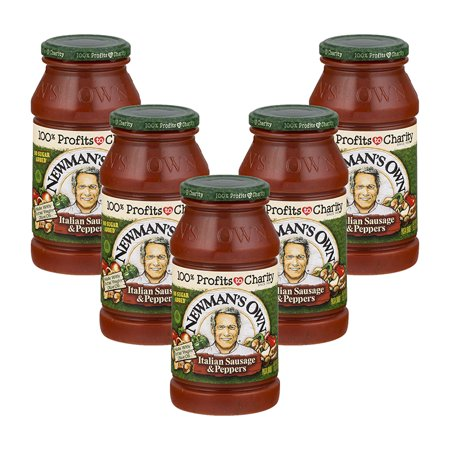 Italian Cuisine Pasta ((5 Pack) Newman's Own Pasta Sauce Italian Sausage & Peppers, 24.0)