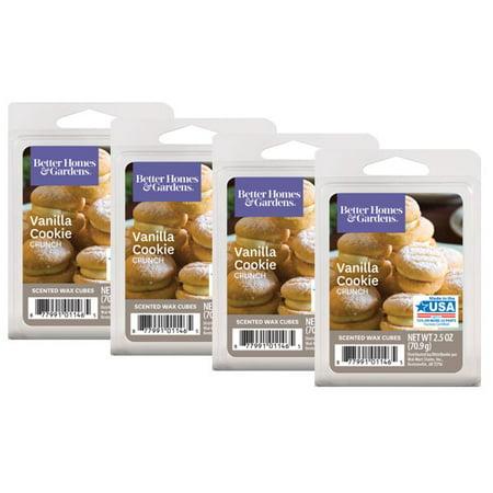 Better Homes & Gardens 2.5 oz Vanilla Cookie Crunch Scented Wax Melts, 4-Pack