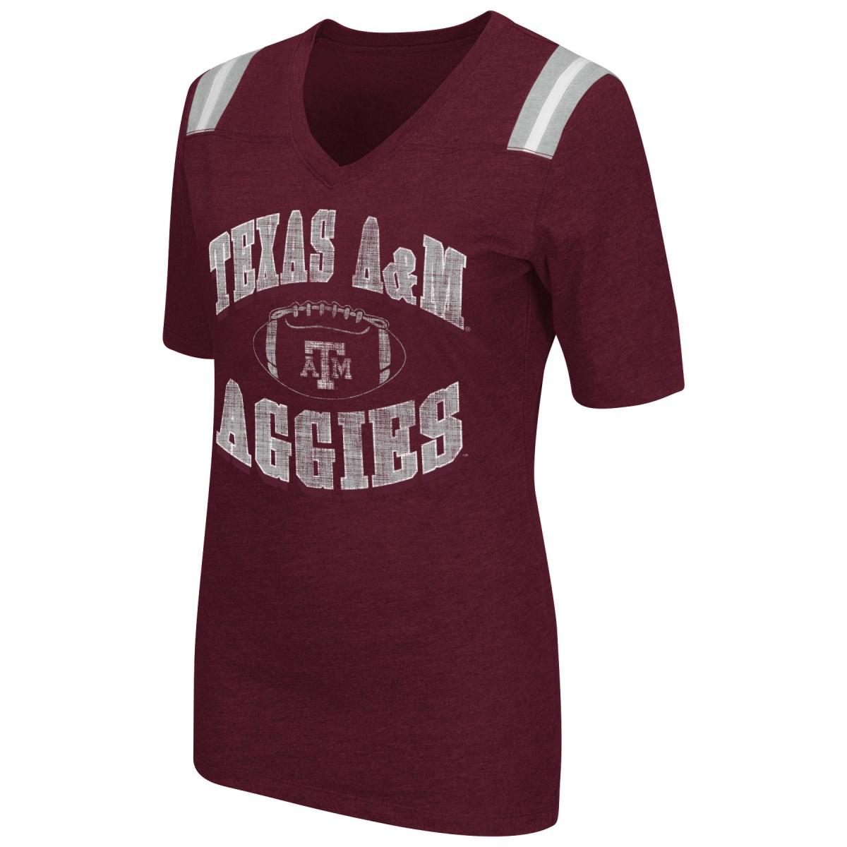 "Texas A&M Aggies Women's NCAA ""Artistic"" Dual Blend Short Sleeve T-Shirt"