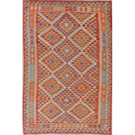 Turkish Flatweave Oriental Kilim Hand Woven Area Rug Wool 6x8