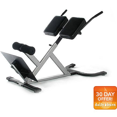 hyperextension workout machine