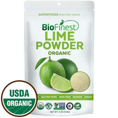 Biofinest Lime Powder - 100% Pure Freeze-Dried Antioxidants Superfood -USDA Certified Organic Kosher Vegan Raw Non-GMO - Boost Digestion Weight Loss - For Smoothie Beverage Blend (4 oz Resealable (Digestion Blend)