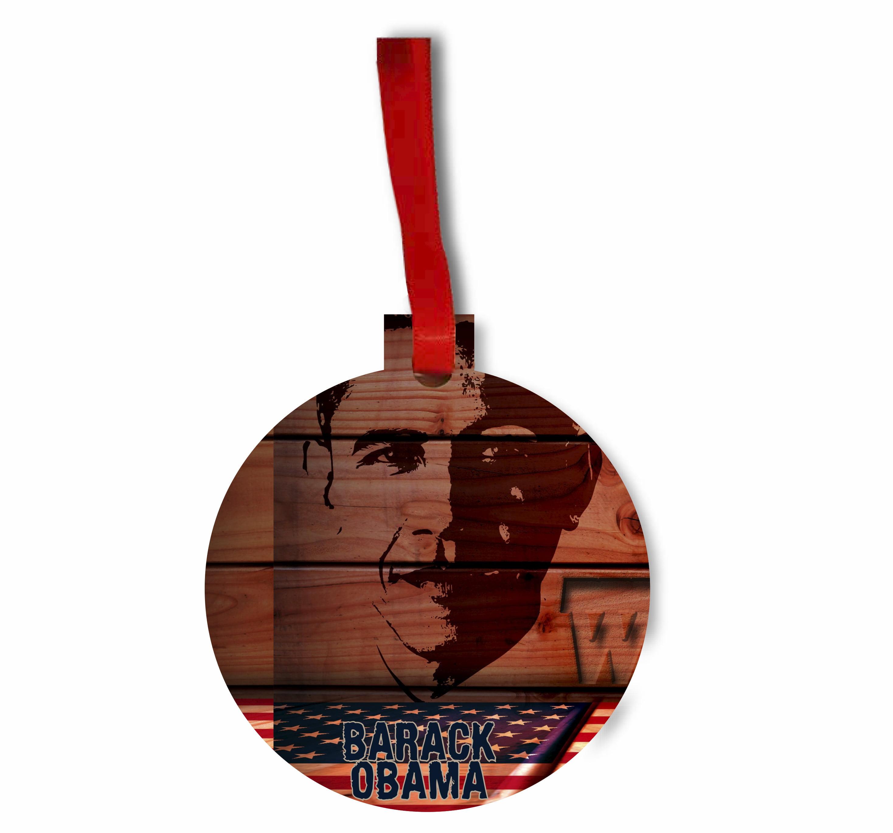 Barack Obama Patriotic Design - TM Hardboard Hanging Holiday Tree ...